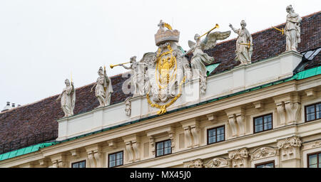 Imperial Chancellery Wing (19th c.) of Hofburg, Vienna, Austria - Stock Photo