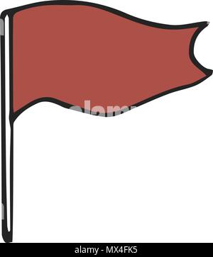 Red box vector illustration drawing geometric on white background - Stock Photo