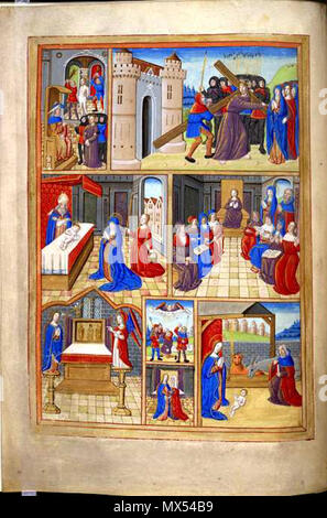 Folio 54 Verso From A Book Of Hours Scenes From The Life Of Christ