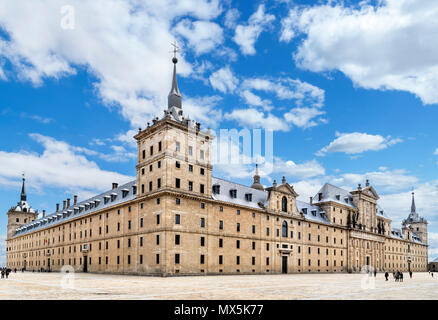 El Escorial, San Lorenzo de El Escorial, Madrid, Spain - Stock Photo