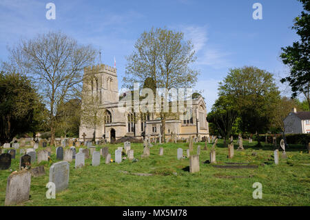 St Edmunds Church, Maids Moreton, Buckinghamshire, is one of the few churches in the country dating from one century being built in the fifteenth cent - Stock Photo