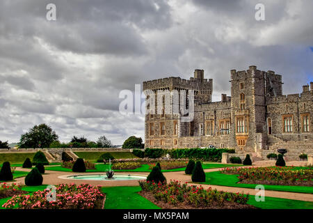 London, UK. 16th May, 2018. Windsor castle near London Credit: Alexandr Gusev/Pacific Press/Alamy Live News - Stock Photo