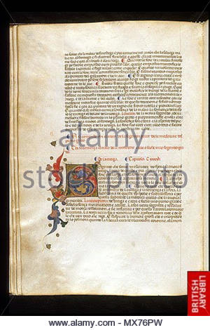 . English: arapion the Younger, Translation of the herbal (The 'Carrara Herbal'), including the Liber agrega, Herbolario volgare; De medicamentis, with index (ff. 263-265) Italy, N. (Padua); between c. 1390 and 1404 . between c. 1390 and 1404. An Italian translation, possibly from a Latin translation, of a treatise orginally written in Arabic by Serapion the Younger (Ibn Sarabi, likely 12th century). 115 Carrara Herbal03 - Stock Photo