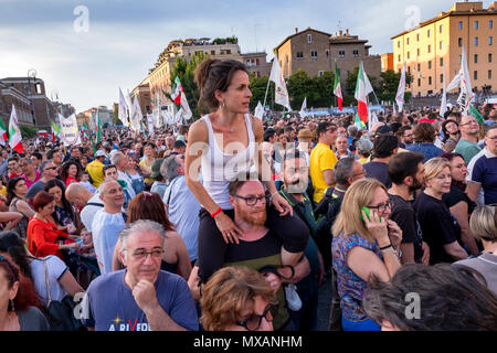 Italy's Five Star Movement has blown a hole in the country's political landscape by claiming the largest vote share in the general election. The party, led by Luigi Di Maio and founded by Beppe Grillo, emerged as the big winner of a vote that will be viewed with trepidation in Brussels. Formed in 2009 in the aftermath of the financial crisis, Five Star has fed off public fury over corruption in the Italian establishment and sluggish economic recovery. - Stock Photo