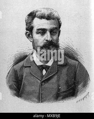 . Français: Portrait de Huysmans par Louis Félix Beschrer . 1886. Louis Félix Bescherer 324 Joris-Karl Huysmans - Stock Photo