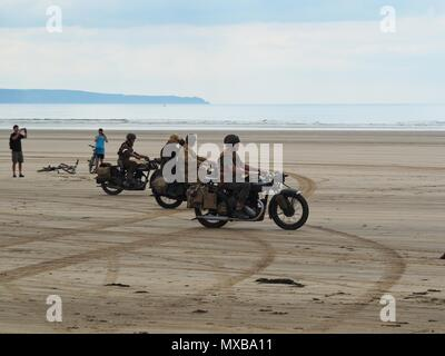 Devon D-Day 75th anniversary Saunton Beach, North Devon, UK - Stock Photo