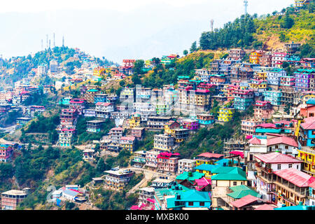 Not Brazil Nor Argentina Its my India. The beautiful landscape of Shimla situated in Himachal Pradesh. - Stock Photo