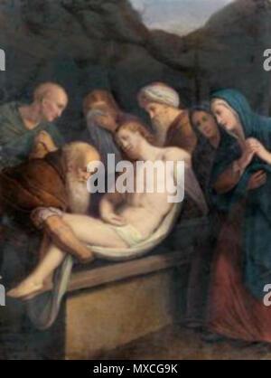 . Русский: «Положение во гроб» . 19th century. Giuseppe Longhi 376 Longhi giuseppe-la mise au tombeau - Stock Photo