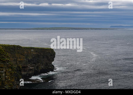 Part of the coastline around Duncansby Head in Caithness, Scotland. 20 May 2018. - Stock Photo