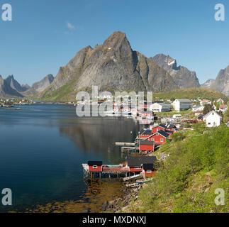 Reine fishing village, Lofoten Islands, Norway. - Stock Photo