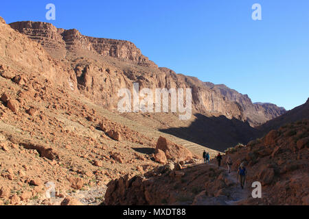Hiking In Todra Valley Morocco - Stock Photo