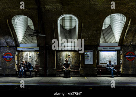 Baker Street Underground Station, London, UK - Stock Photo