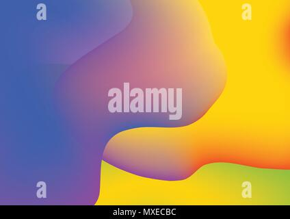 Abstract colorful gradient background composition with blue,green,yellow orange and violet color for decoration. Colorful abstract for poster,brochure - Stock Photo