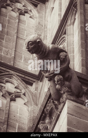 Gargoyles are very typical for gothic churches  They are on one hand