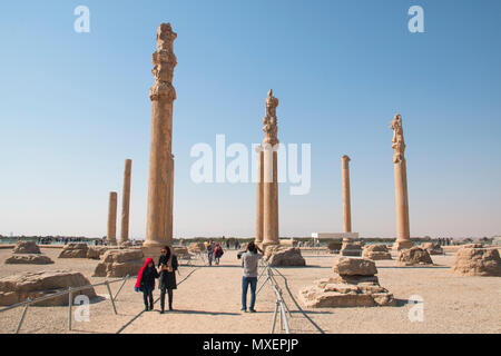 PERSEPOLIS, IRAN - NOVEMBER 2017: The Ancient city Persepolis was once the capital of the Achaemenid empire and is now UNESCO heritage. The site can b - Stock Photo