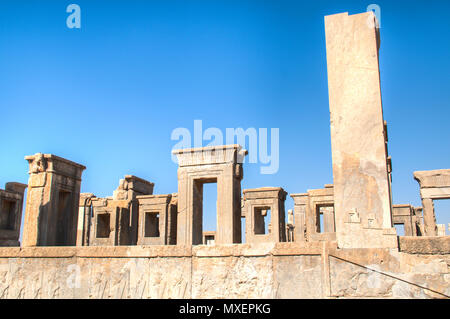 The Ancient city Persepolis was once the capital of the Achaemenid empire and is now UNESCO heritage. The site can be found near Shiraz in Iran - Stock Photo