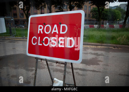 No Entry Road Closed signs - Stock Photo