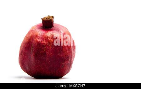 Pomegranate fruit isolated on a white background - Stock Photo