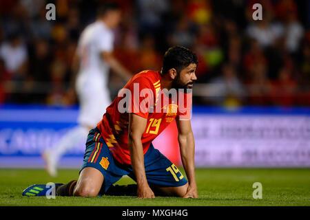 Diego Costa (Atletico Madrid) during a International friendly match between Spain against Switzerland in La Ceramica Stadium, Villarreal, Spain, on 03 June of 2018. - Stock Photo