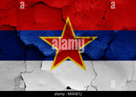 flag of Socialist Republic of Montenegro - Stock Photo