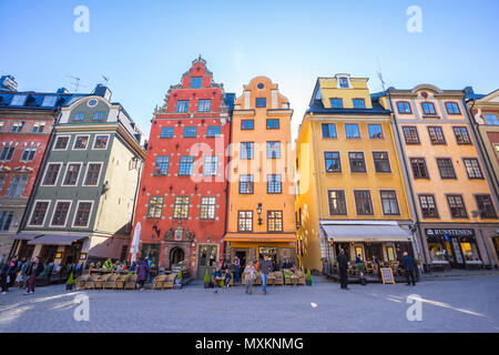 Stockholm, Sweden - May 4, 2017: Gamla Stan old town in Stockholm city, Sweden. - Stock Photo