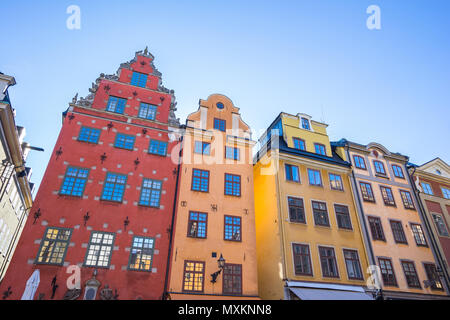 Gamla Stan old town in Stockholm city, Sweden. - Stock Photo