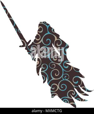 Ghost pattern silhouette scary monster fantasy - Stock Photo