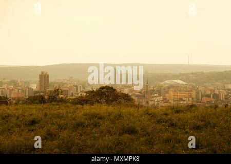 The city of Liege, Belgium, seen from the hill above the city - Stock Photo