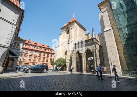 The Church of the Virgin Mary under Chain in Prague, Czech Republic - Stock Photo