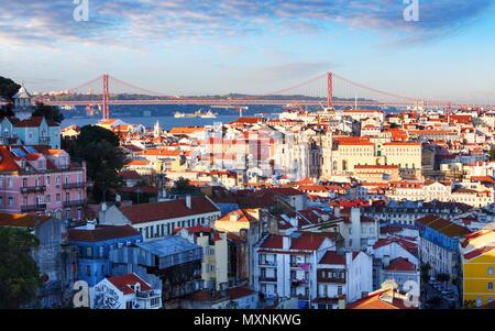 Lisbon skyline, Portugal - Stock Photo