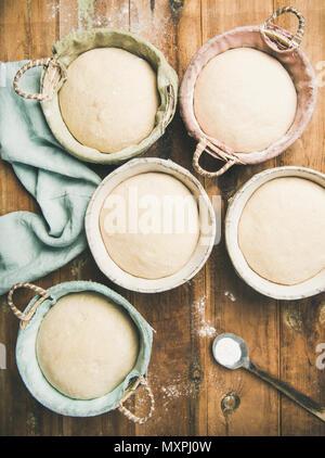 Sourdough for baking homemade bread - Stock Photo
