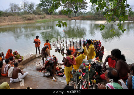 India, Orissa, Rananpur, Danda yatra rite - Stock Photo