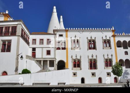 National Palace, Sintra (near Lisbon), Portugal - Stock Photo