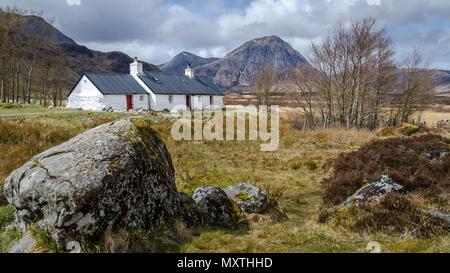 Black Rock Cottage, Glencoe Scotland. - Stock Photo