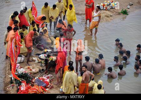 India, Orissa, Rananpur, Danda yatra rite - Stock Photo