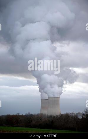 France, Vienne, Nuclear power station, Civaux - Stock Photo