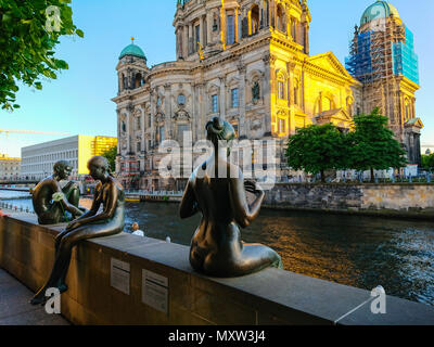 Famous Berlin Cathedral - evening view - BERLIN / GERMANY - MAY 21, 2018 - Stock Photo