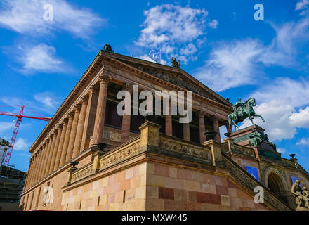 Old National Gallery on Museum Island in Berlin - a famous landmark - BERLIN / GERMANY - MAY 21, 2018 - Stock Photo