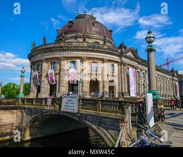 Famous Bode Museum in Berlin on Museum Island - important landmark in the city - BERLIN / GERMANY - MAY 21, 2018 - Stock Photo