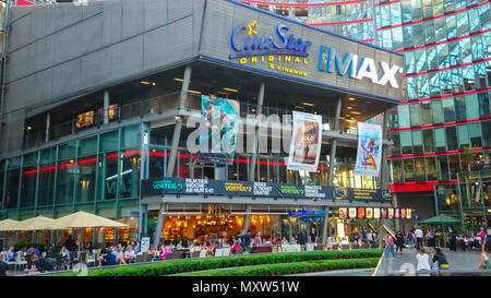 Cinestar Movie Theater and IMAX at Sony Center Berlin - BERLIN / GERMANY - MAY 21, 2018 - Stock Photo