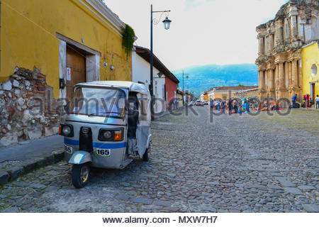 Transportation in the streets of Antigua Guatemala - Stock Photo