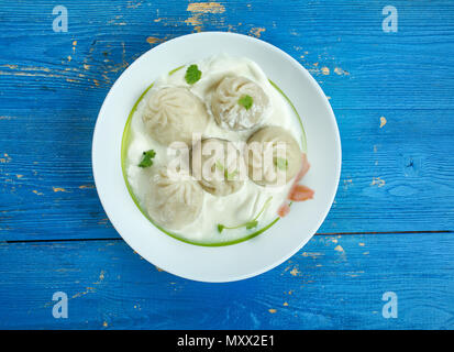 Mamtu - dumplings , fast food dish  in Gilgit Baltistan - Stock Photo