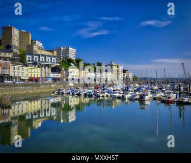 GB - DEVON: Torquay Harbour  (HDR Image) - Stock Photo