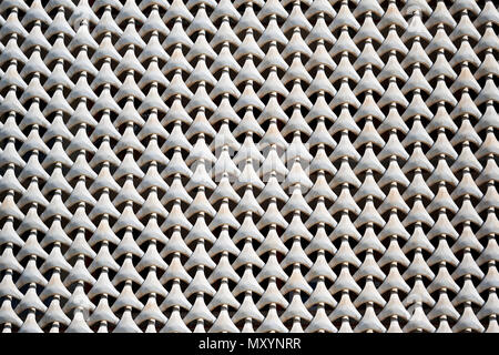 Concrete grate on the house facade. Full frame, white color - Stock Photo
