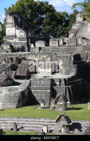 North Acropolis, Tikal, Mayan city Guatemala - Stock Photo