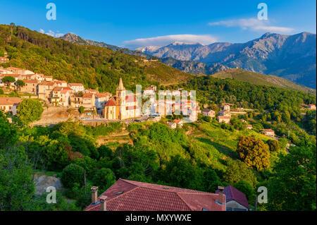 Village of Vivario, Corsica, France - Stock Photo