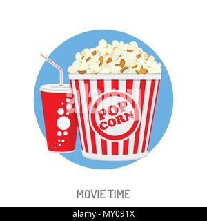 Cinema and Movie time - Stock Photo