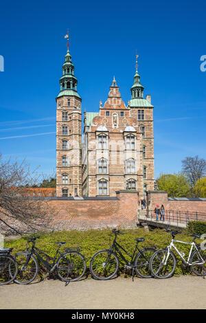 Rosenborg Castle in Copenhagen city, Denmark - Stock Photo