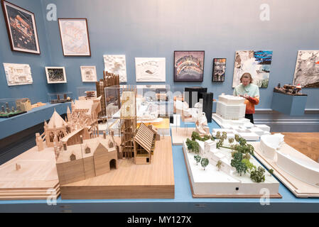 London, UK.  5 June 2018. Architectural models at the preview of the 250th Summer Exhibition at the Royal Academy of Arts in Piccadilly, which has been co-ordinated by Grayson Perry RA this year.  Running concurrently, is The Great Spectacle, featuring highlights from the past 250 years.  Both shows run 12 June to 19 August 2018. Credit: Stephen Chung / Alamy Live News - Stock Photo