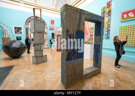 London, UK.  5 June 2018. Sculptures of all sizes at the preview of the 250th Summer Exhibition at the Royal Academy of Arts in Piccadilly, which has been co-ordinated by Grayson Perry RA this year.  Running concurrently, is The Great Spectacle, featuring highlights from the past 250 years.  Both shows run 12 June to 19 August 2018. Credit: Stephen Chung / Alamy Live News - Stock Photo